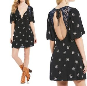 NWT Free People Mockingbird Open-back Mini Dress 4